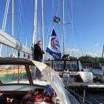 Die Rallyflagge wird gesetzt